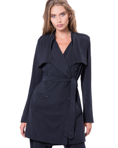 Chelsea Trench Black