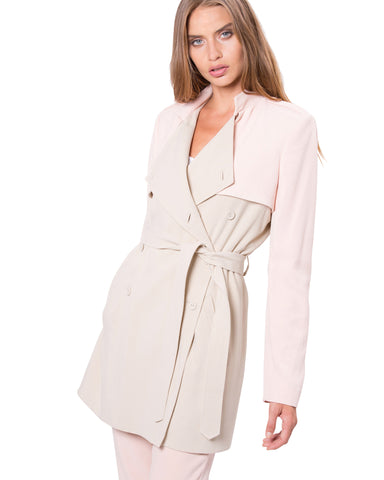 Chelsea Trench Peach / Nude