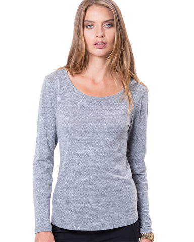 Montauk Long Sleeve Grey Marl