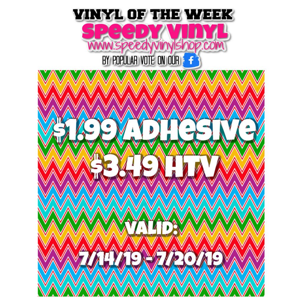 Summer Chevron- Vinyl of the Week! 7/14 - 7/20/19