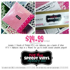 "Introducing.... The ""Print Plus"" Speedy Vinyl Mystery Box (VIDEO!)"