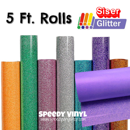 Siser Glitter HTV {{5 Ft. ROLL}}