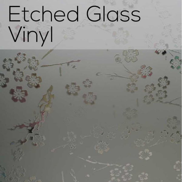 Etched Glass Vinyl {12x12 Sheets}