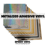 "Metalized Permanent Adhesive Vinyl 12"" x 12"""