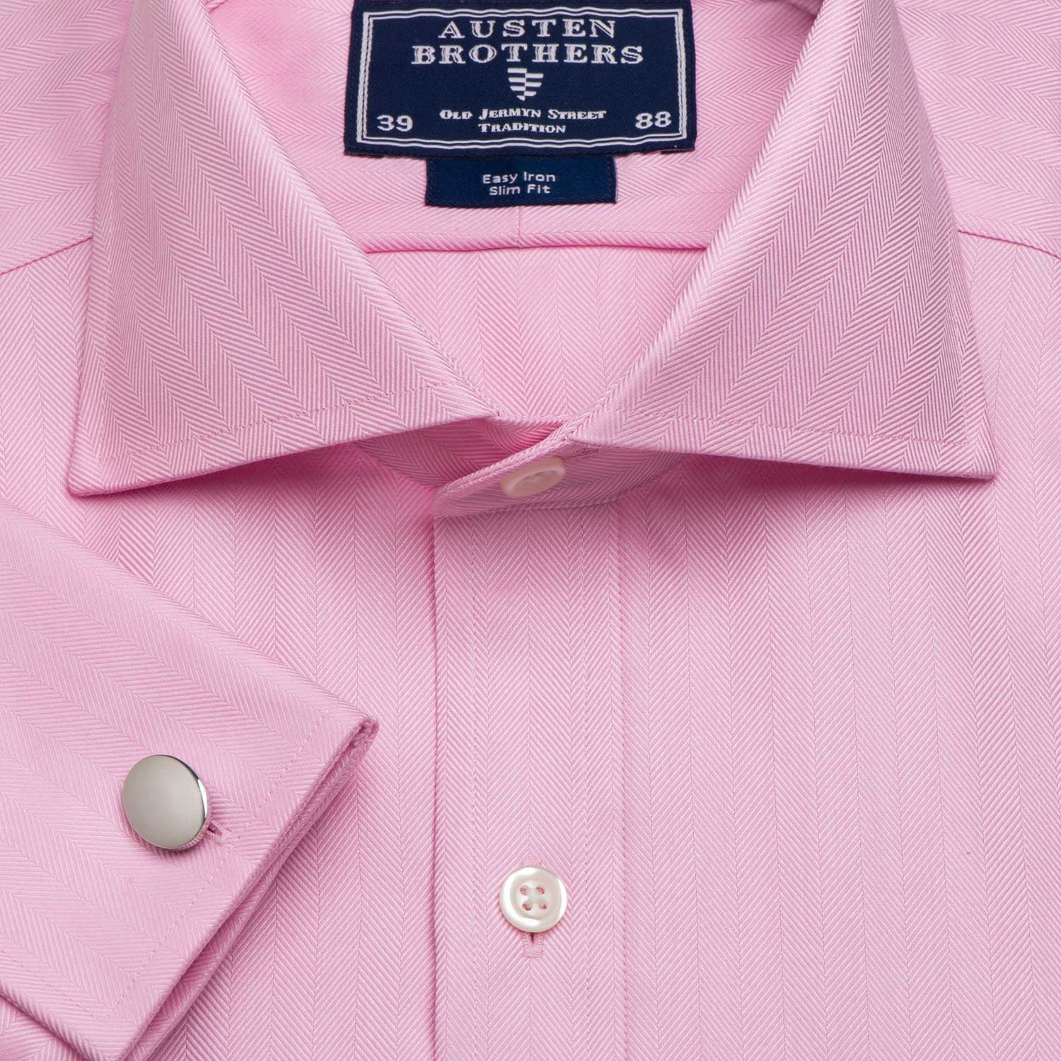 PINK ROYAL HERRINGBONE - Made 2 Measure