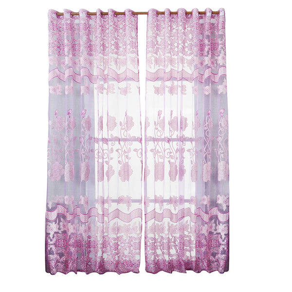 Floral Tulle Curtains Clarios