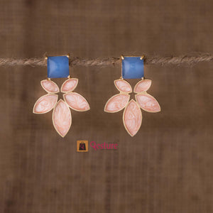 Lotus Enamel Stud Earring (Available in 4 Variants)- Gesture Jewelery
