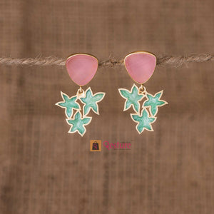 Lotus Enamel Dangle Earring (Available in 4 Variants)- Gesture Jewelery