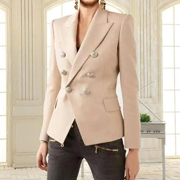 Double Breasted Fitted V-Neck Working Business Wear Short Coat CODE: mon164