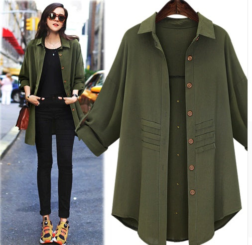 Trench Coat Casual Outwear Single Breasted Turn-down Collar CODE: KAR105