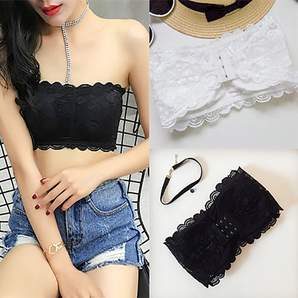 Bra Women's Sexy Casual Lace Wrap Tube Top Bandeau Short Tanks CODE: KAR164