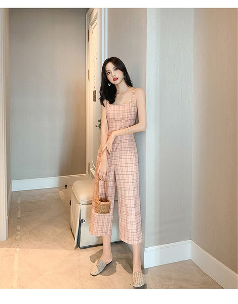 Wide Leg Pants Female High Waist Casual Nine Loose Jumpsuit CODE: KAR232