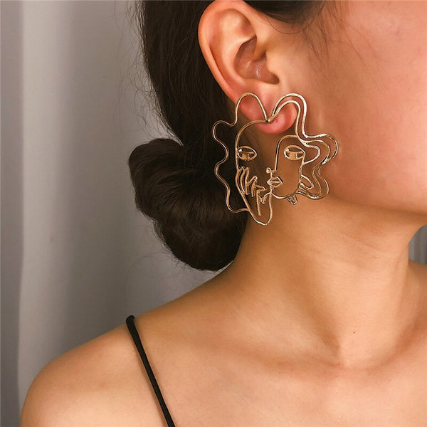 Vintage Baroque Creative Irregular Geometric Statement Earrings CODE: KAR259