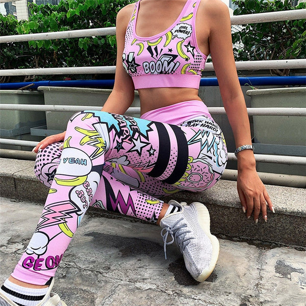 2 Piece Set gym Sexy summer clothes for women tracksuit Set Sportwear CODE: KAR260