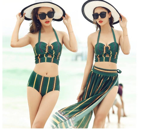Swimsuit Women's Small Bust Push up Bikini Cover-up 3pcs Set Belly CODE: KAR337