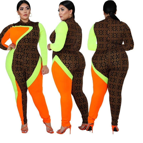 jumpsuits stand collar full length catsuits beach style lady  CODE: KAR430