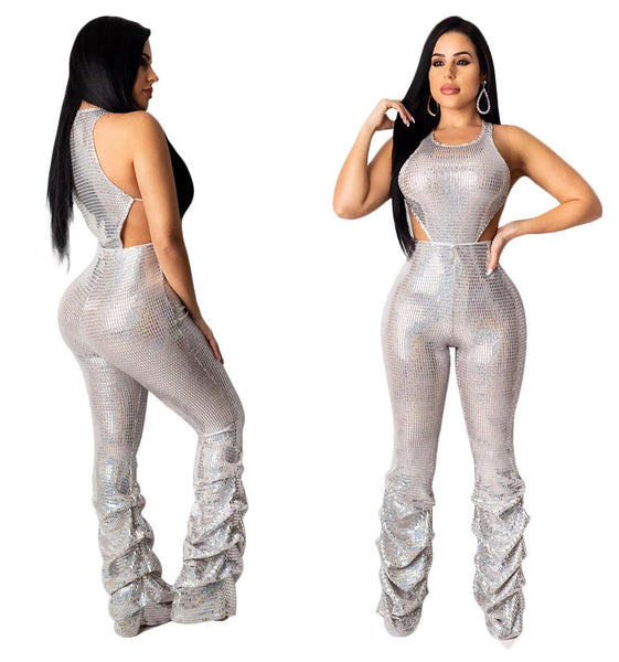 Women Jumpsuit O neck Solid Club Bodycon Wear Bange Hollow Out Sleeveless CODE: KAR473
