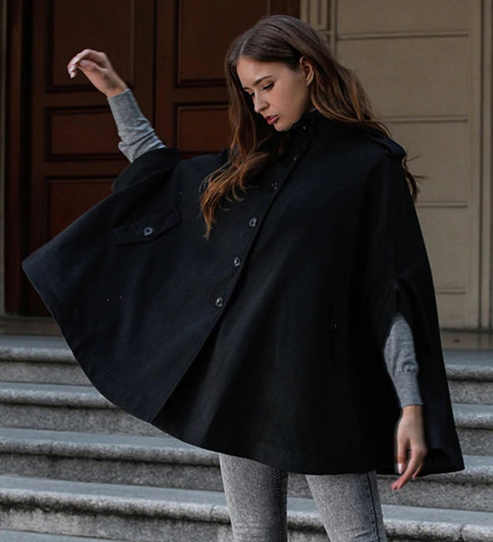 Winter WOMEN'S Coat New Style Woolen Coat Cloak Shawl Sho CODE: KAR497