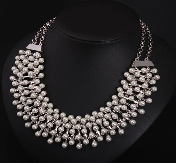 New Style Graceful White Pearls Chokers Necklace CODE: KAR536