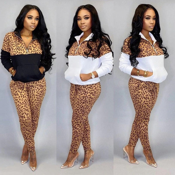 Print Two Piece Set Women Tracksuit Autumn Winter Clothes Hoodie CODE: KAR556