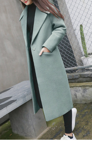 Winter Wool Coat Long Wool Coat Spring Autumn CODE: KAR562