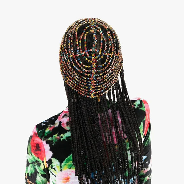 Rhinestone Hats Headband Chain for Women Handmade CODE: KAR648
