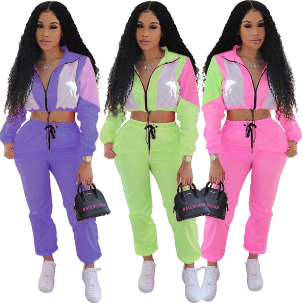 Sexy tracksuit summer long sleeve casual sporty 2 pieces CODE: KAR64
