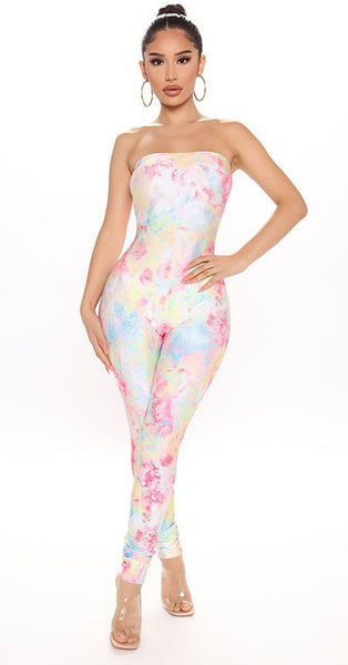Tie Dye One Piece Jumpsuits for Women CODE: KAR704