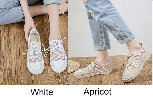 Comfortabel Casual Shoes Lady Brand White Flat CODE: KAR723