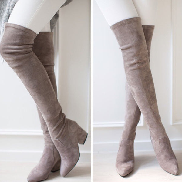 The Knee Boots Autumn Winter Botas Mujer Back Lace CODE: KAR761