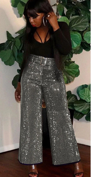 Sparkle Bling Winter Pants Women Elegant CODE: KAR787