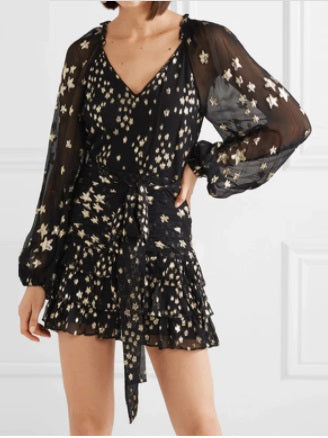 Women Print Party Mini Dress Long Sleeve CODE: KAR789