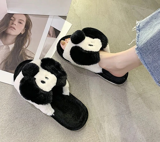 Slippers Women's Low Fur Slippers Fluke Slide Fashion CODE: KAR819