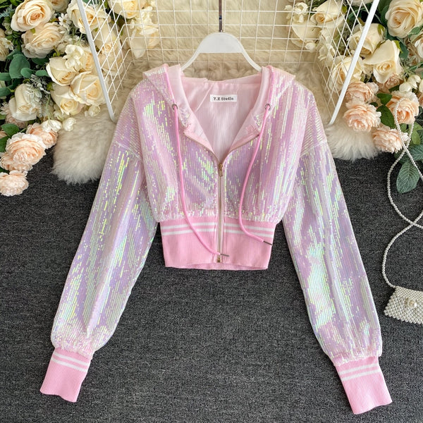Sequined Short Design Summer Jacket Women CODE: KAR873