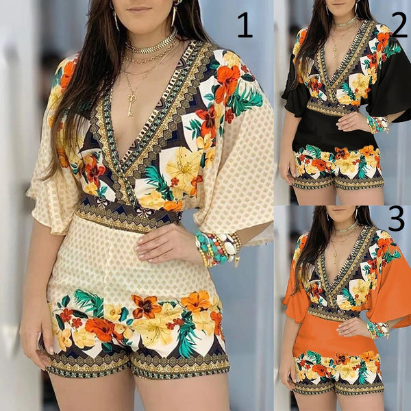 Jumpsuit Casual Summer Floral Printed Playsuit CODE: KAR886