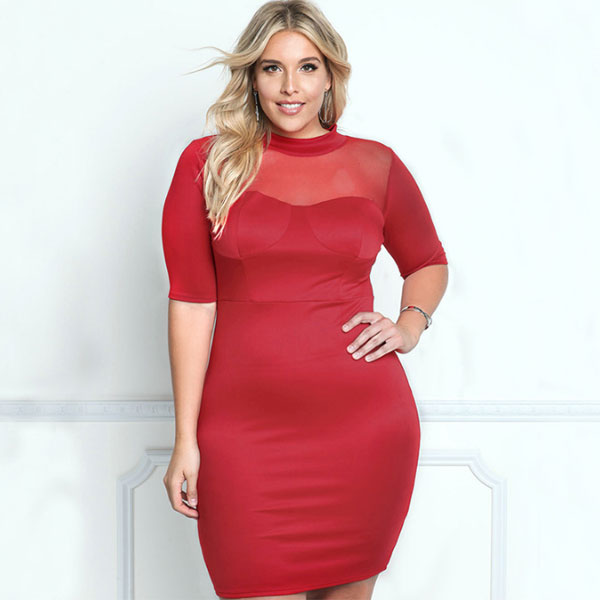 1cf6699fe6 Party Red O-Neck Solid Knee-Length Dress CODE  mon2088 – Monrsh