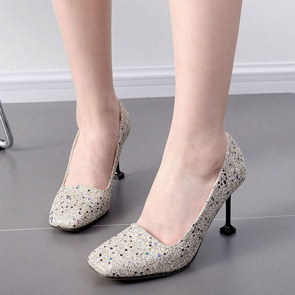 Cute  Solid PU Pumps CODE: mon2115