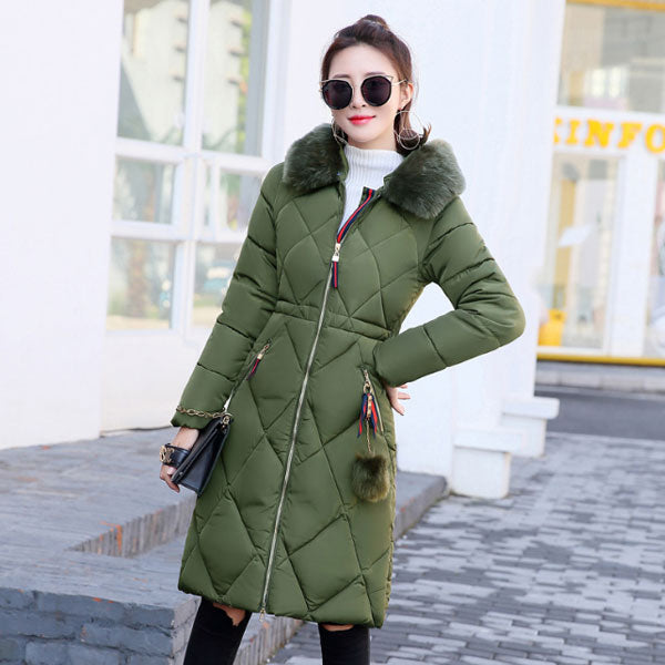Cute  Hooded Solid Cotton Padded Coat  CODE: mon2124