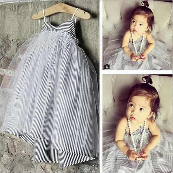 Striped Yarn Skirt  Baby Dress CODE: mon582