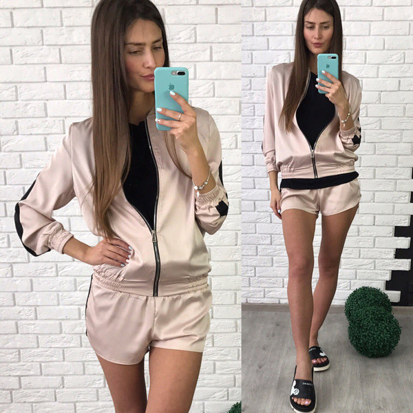 leisure sports short set suit CODE: mon595