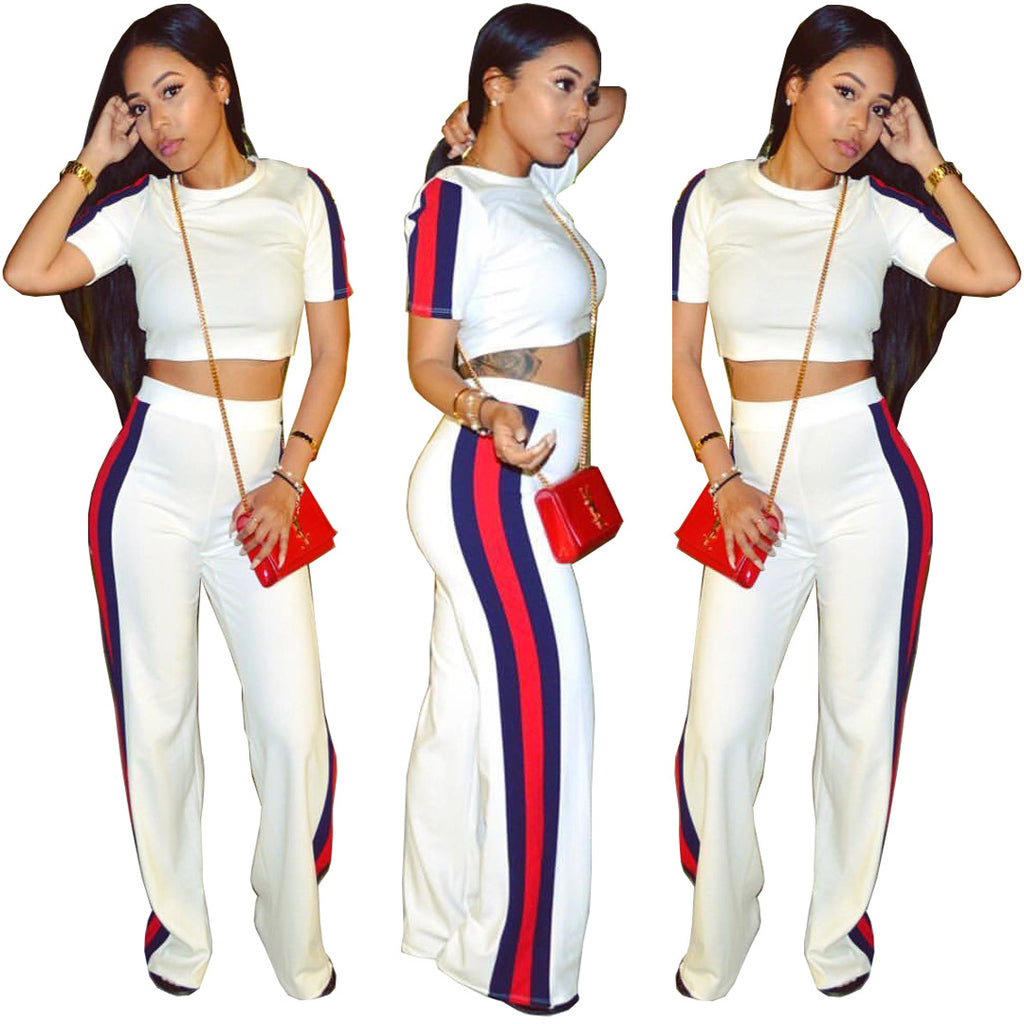 Casual ribbed wide pant Set CODE: mon602