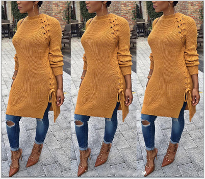 large yards loose hollow hole sweater  dress CODE: mon618