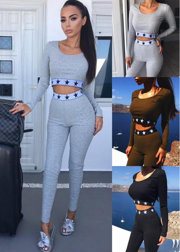 long sleeves sports two piece set CODE: mon619