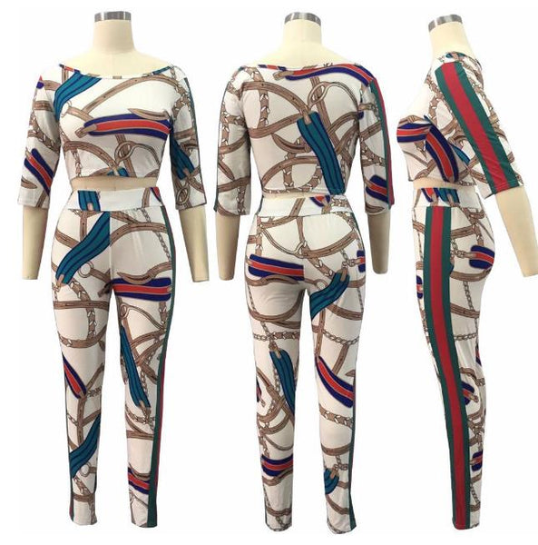 Fashion printed sports leisure suit set CODE: mon681