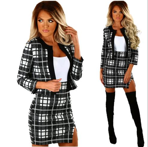 casual print dress two suit set  CODE: mon691