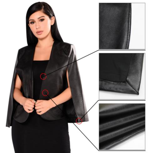 PU leather cloak jacket CODE: mon701