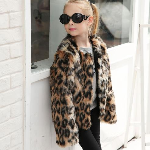 leopard style imitation  children short jacket CODE: mon732