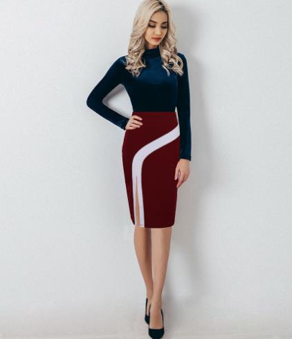 high waist split knee Skirt CODE: mon751
