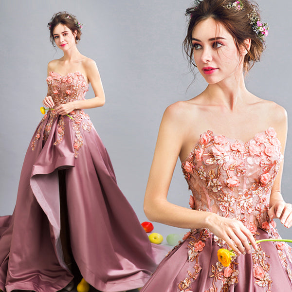 Fashion Beads Flowers Embroidery Fishtail wedding party evening wear Prom Dress CODE: mon520