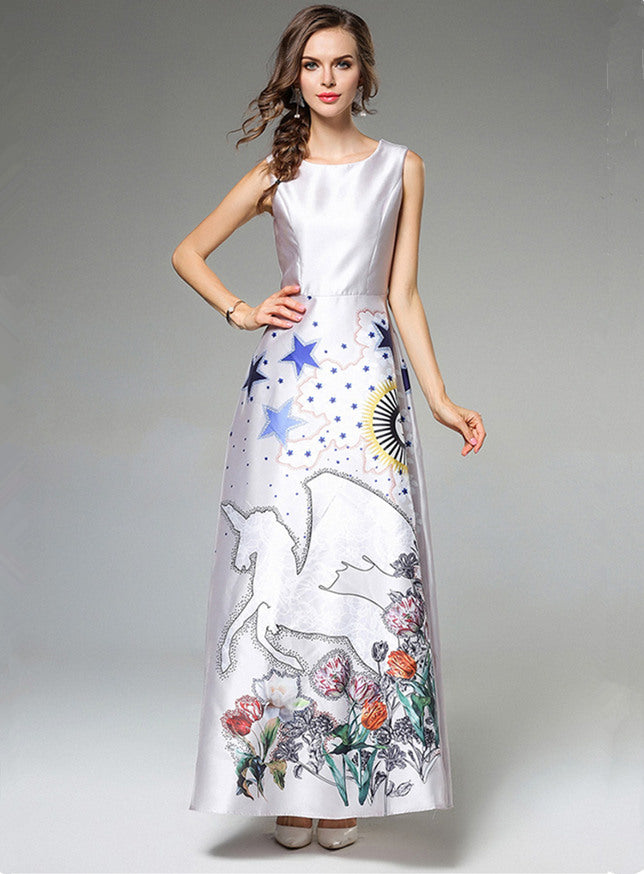 Stars Magic Printings Slim Maxi Dress CODE: mon624